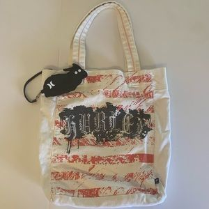 Hurley Graphic Canvas Tote Bag & Coin Purse